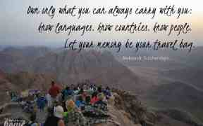 Quotes: Aleksandr Solzhenitsyn - Own only what you can always carry with you