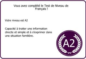 French level test result (2012-11-27)