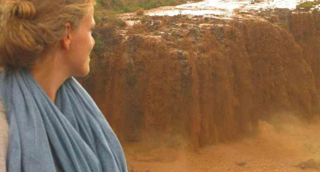Carola at Blue Nile Falls, Ethiopia (2012-06)