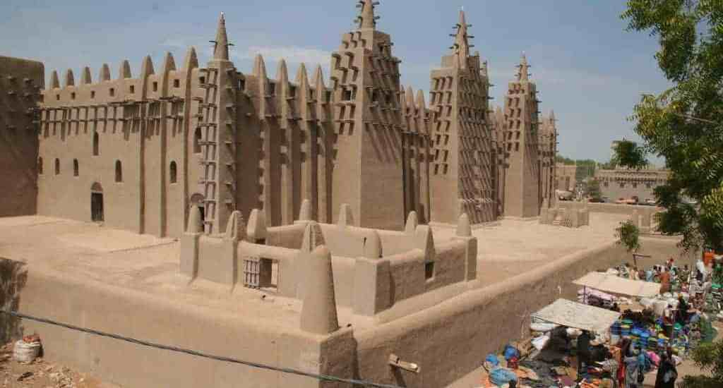Mud mosque in Djenne, Mali (2011-11)