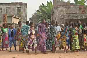 Colorful fabrics during Vodon voodoo festival, Grand Popo, Benin (2012-01)