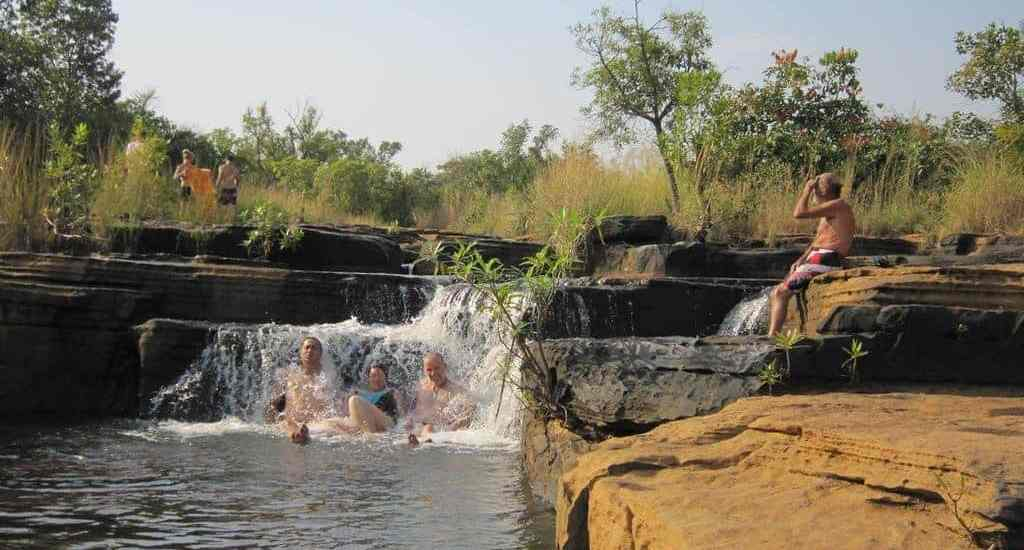 African Trails group bathing in Karfiguela Falls, Burkina Faso (2011-12)