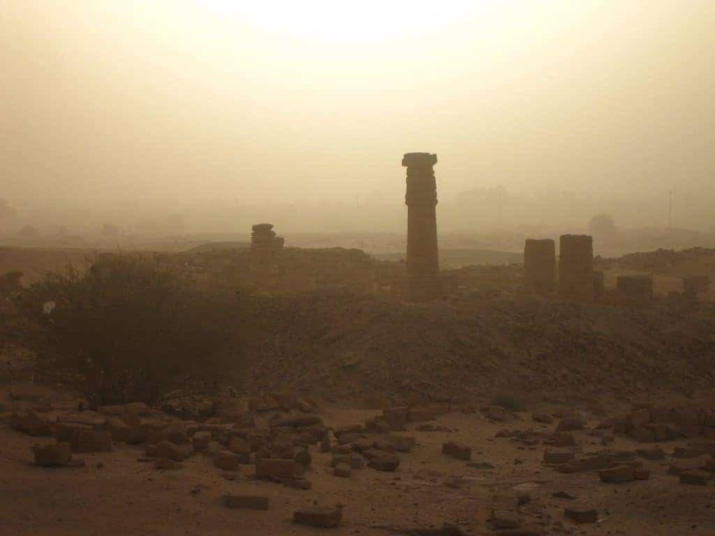 Jebel Berkal temple ruins at sunrise in Karima, Sudan (2012-07)