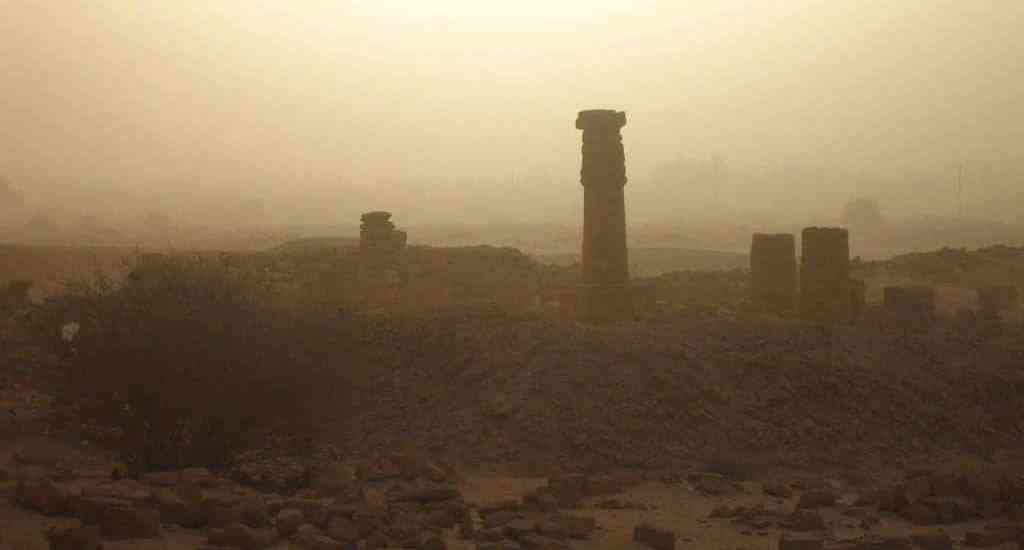 Jebel Berkal temple ruins at sunrise in Karima, Sudan (2012-07)