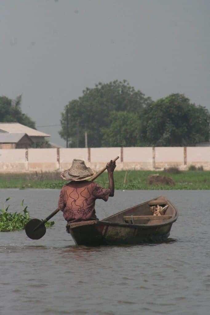 Boat on Lac Nokoue, Benin (2012-01)