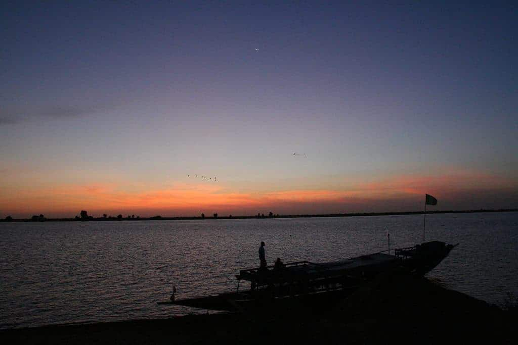 Sunrise over Niger river, Mali (2011-11-23)