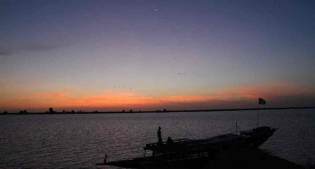 Sunrise over Niger river, Mali (2011-11-23)