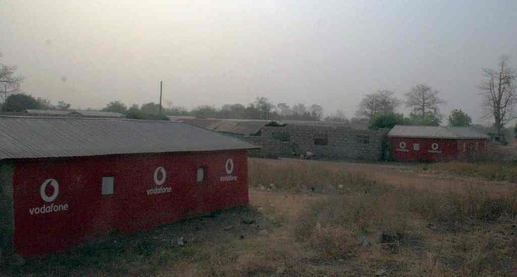Vodafone advertising huts, Burkina Faso (2011-12)