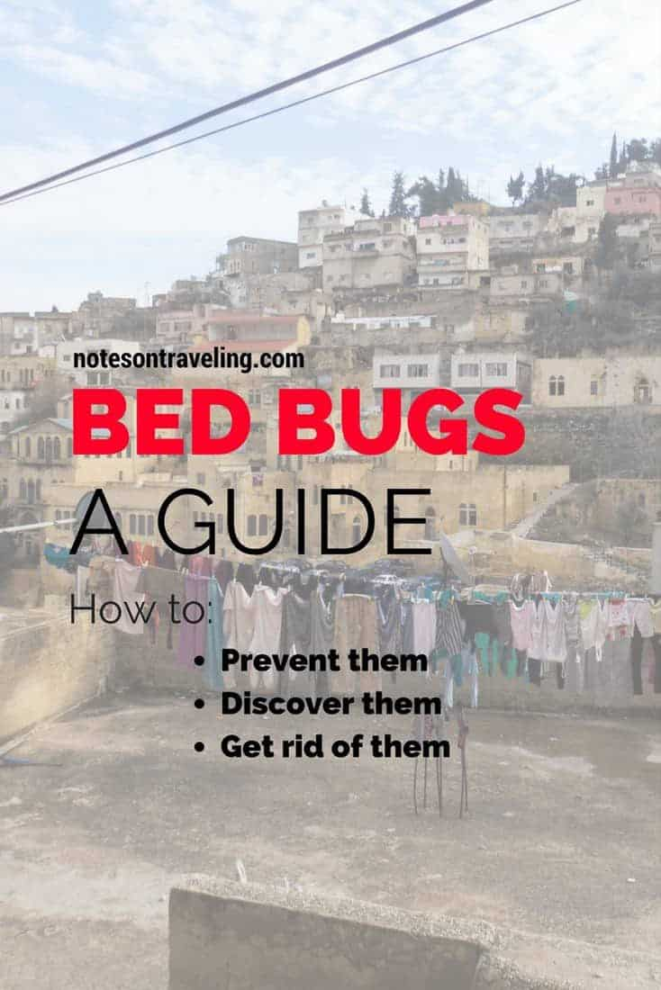 After years of traveling and a half a dozen run-ins with bed bugs, I put together this comprehensive guide on all things bed bugs and traveling: How to prevent an infestation, how to get rid of them & how to deal with bed bug bites.  #traveladvice #travelguide #longtermtravel