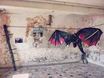 Dragon in Game of Thrones exhibition in Klis Fortress near Split, Croatia (2016-09-15)