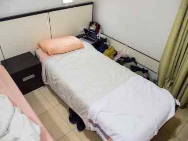 My dorm bed at the HI Hostel Eilat, Israel (2016-12-31)