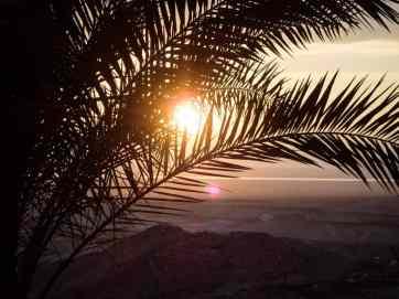 Sunset from my window at HI Hostel Masada National Park, Israel (2017-01-03)