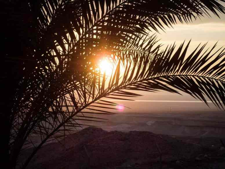 Sunset from my window at HI Hostel Masada National Park, Israel (2017-01-03)