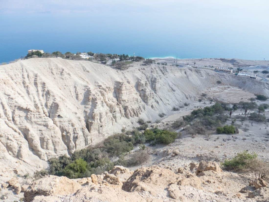 View into David Valley at Ein Gedi Nature Reserve, Israel (2017-01-04)