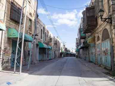Empty Shuhada Street, Hebron, Palestine (2017-01-08)