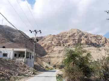 Walking along Wadi Qelt to Mount of Temptation, Jericho, Palestine (2017-01-15)