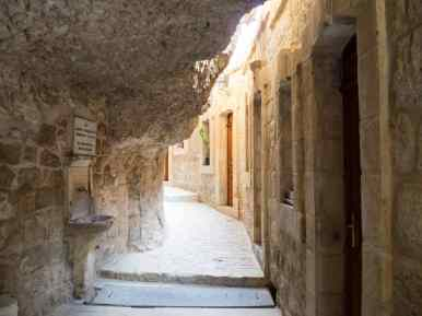 Path in St George Monastery, Jericho, Palestine (2017-01-15)