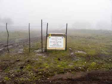 Reminder of the ongoing conflict over the Golan Heights outside Odem, Golan Heights, israel (2017-01-26)