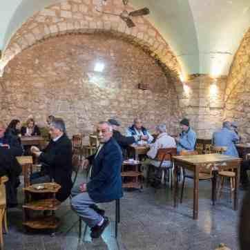 Playing cards at Abu Salem Café, Nazareth, Israel (2017-02-03)