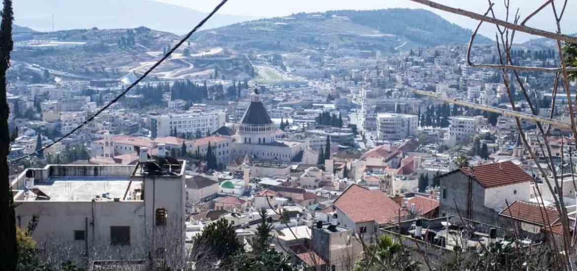 Panoramic view from above Nazareth, Israel (2017-02-03)