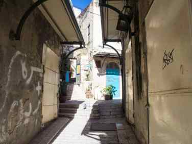 New hostel in the old city of Nazareth, Israel (2017-02-03)