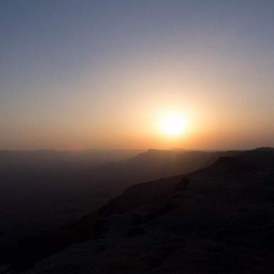Sunset from Camel Rock, Ramon Crater, Mitspe Ramon, Israel (2017-02-08)