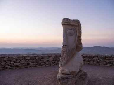 Sculpture exhibition along the edge of Ramon Crater, Mitspe Ramon, Israel (2017-02-08)