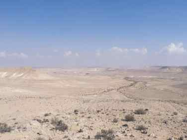 Green path panorama right after leaving Avdat, Israel (2017-02-09)