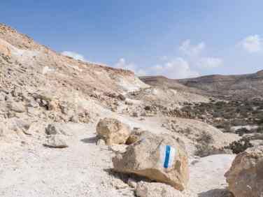 Blue path towards Ein Akev, Israel (2017-02-09)