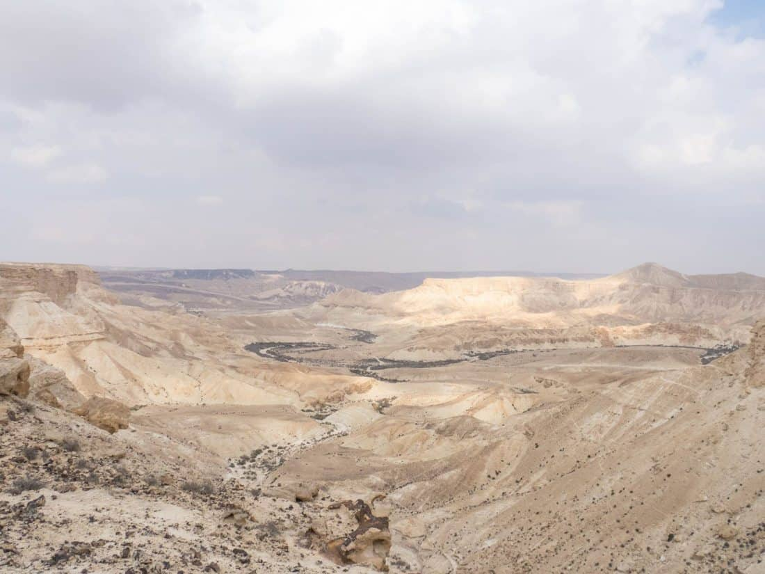 Green Wadi Akev in the distance, Israel (2017-02-09)