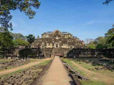Baphuon Temple from the outside, Angkor Thom, Siem Reap, Cambodia (2017-04-13)