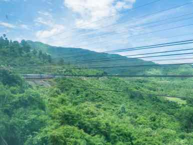 Train ride from Da Nang to Hue, Vietnam (2017-06)
