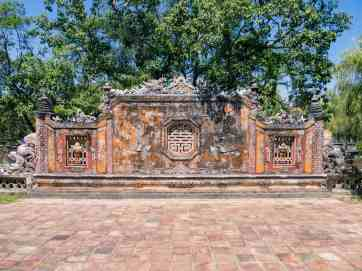 Decorated devider wall, Hue Citadel, Vietnam (2017-06)