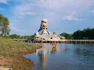 The Dragon at the abaondoned waterpark by Thuy Tien Lake, Hue, Vietnam (2017-06)