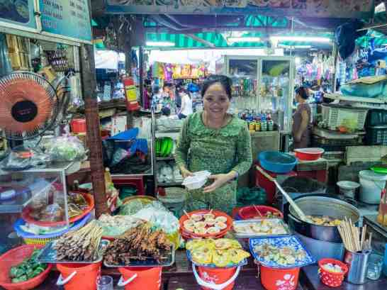 Lady on Dong Ba Market who served Anthony Bourdain street food, Hue, Vietnam (2017-06)