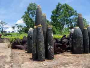 DMZ Tour: Installation with bombs at Khe San base, Vietnam (2017-06-26)