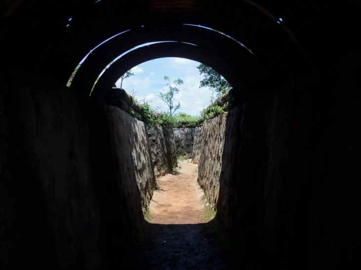 DMZ Tour: Trench at Khe San base, Vietnam (2017-06-26)
