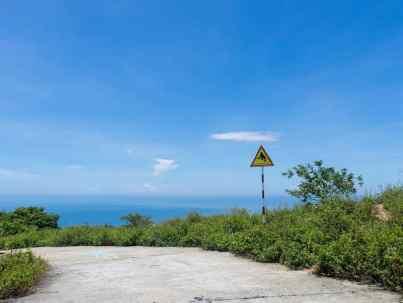 Watch for monkeys crossing, Monkey Peak peninsula, Da Nang, Vietnam (2017-06)