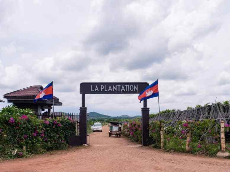 La Plantation gate, Kampot, Cambodia (2017-04-29)