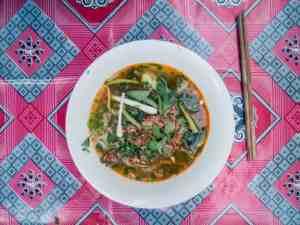 Khao Soi noodle soup, Luang Prabang, Laos (2017-08)