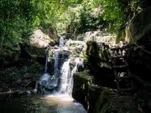 At the foot of the waterfall at Phong Nha Botanical Garden, Vietnam (2017-06)