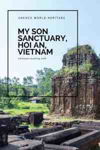 My Son Sactuary is an ancient religious Champa site and UNESCO World Heritage. It's vicinity to Hoi An means it's great for a day trip in the countryside. Read about My Son Sanctuary and more in my Experience Hoi An guide. #slowtravel #travelguide #UNESCO