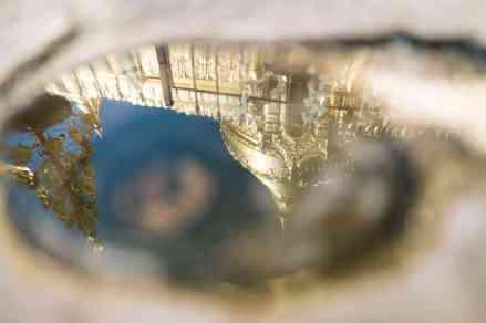 Reflection pool at Shwezigon Pagoda, Bagan, Myanmar (2017-09)