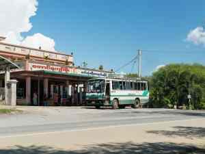 Bus stop on the way into Inwa, Mandalay, Myanmar (2017-09)