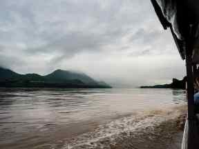 Rain clouds gathering, Luang Say Mekong river cruise, Luang Prabang to Huang Say, Laos (2017-08)