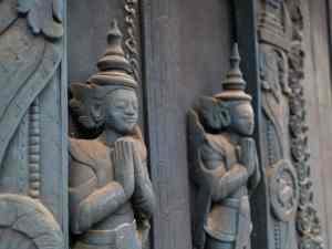 Doors at Golden Palace Monastery, Mandalay, Myanmar (2017-09)