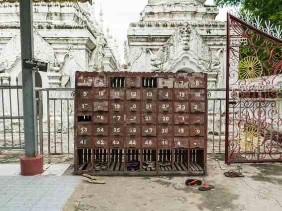 Shoe storage for Sandamuni Pagoda, Mandalay, Myanmar (2017-09)