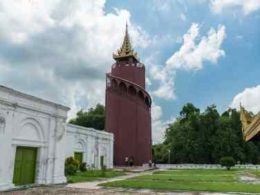 Watchtower at the Mandalay Royal Palace, Myanmar (2017-09)