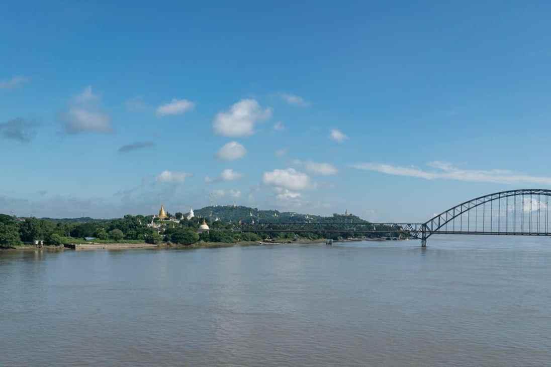 Sagaing from across Irrawaddy River, Mandalay, Myanmar (2017-09)