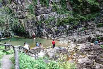 The pool at Temurun waterfall, Langkawi, Malaysia